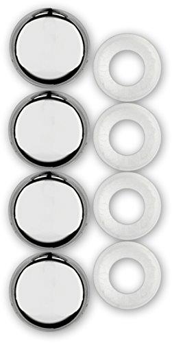 Cruiser Accessories 82630 License Plate Frame Fastener Caps, Chrome