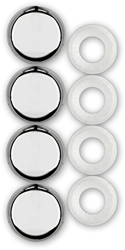 Cruiser Accessories 82630 License Plate Frame Fastener Caps, Chrome