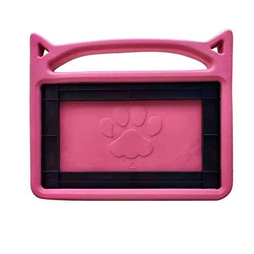Kompatibel mit Fire HD 10 Kids Edition Tablet kindgerechte Hülle Tablet-Hüllen Abdeckungen in Halterung und Griff eingebaut (Rosa)