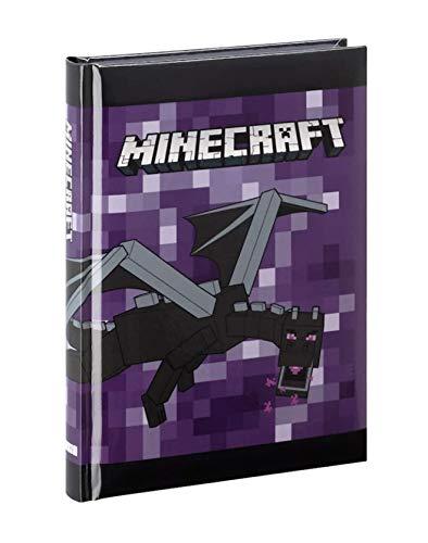 Diario scuola Compatibile con Minecraft Viola 2021-2022 + Omaggio portachiave Fischietto + segnalibro + Omaggio Penna Glitterata