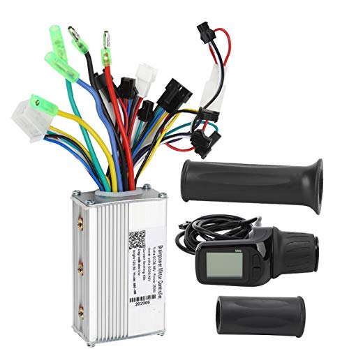 Thincol Motor Brushless Controller for Scooter Electric Bike E-Bike, 36V-48V 250W 350W Electric Bicycle DC Motor Controller with LCD Display, Auto Voltage Recognition