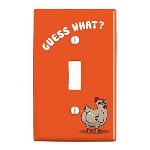 GRAPHICS & MORE Guess What Chicken Butt Funny Plastic Wall Decor Toggle Light Switch Plate Cover