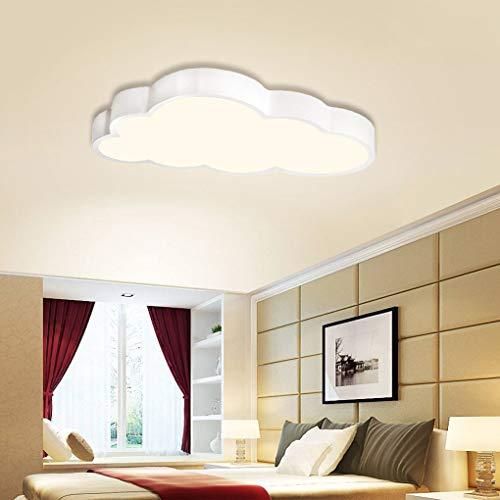 BFYLIN 48W Dimmerabile LED luce di soffitto lampada moderna del soffitto disimpegno camera da letto della lampada salotto energetico cucina risparmio di luce (Nuvole 48W Dimmerabile)