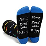 Zmart Dad Socks Funny Crazy Cool Best Dad Ever Tool Funny Saying Socks in Black Gift