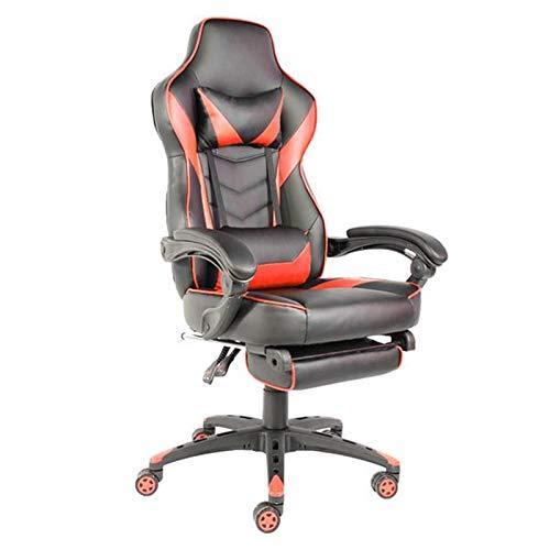 HEEGNPD verstelbare bureaustoel type C ergonomische kunstlederen racestoel met hoge rugleuning