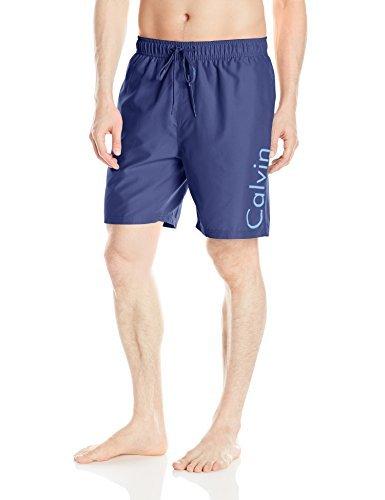 Calvin Klein Herren Badehose, 17,8 cm, elastischer Bund, schnell trocknend - Blau - XX-Large