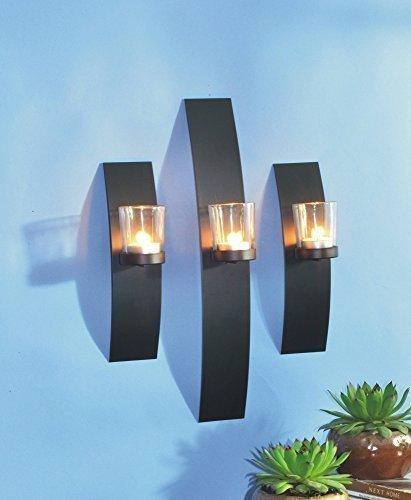 Benelando® 3er Set Wandkerzenhalter Kerzenhalter Teelichthalter Windlicht Teelicht Deko