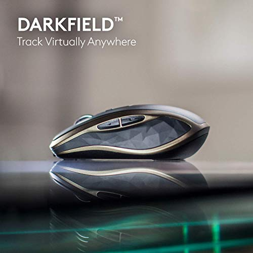 Logitech MX Anywhere 2 Kabellose Maus, Amazon Exklusiv, Bluetooth und 2.4 GHz Verbindung via Unifying USB-Empfänger, 4000 DPI Sensor, Wiederaufladbarer Akku, Multi-Device, 7 Tasten, PC/Mac/iPadOS