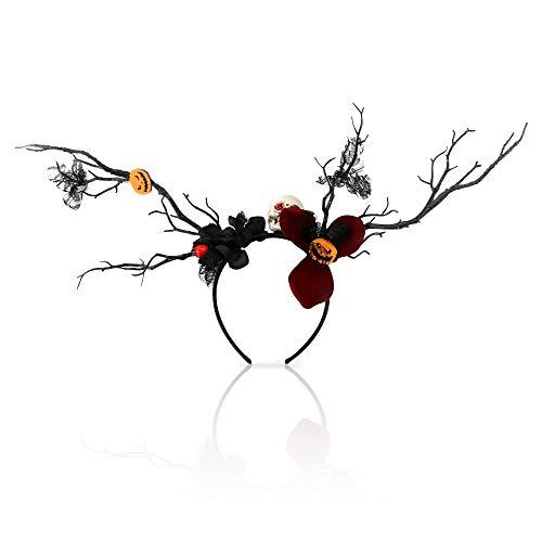 Diademas de Halloween, diadema CestMall con calavera, calabaza, mariquita, flor, encaje negro, accesorios elegantes, diadema de plástico para adultos y niños, disfraces, diadema para el cabello