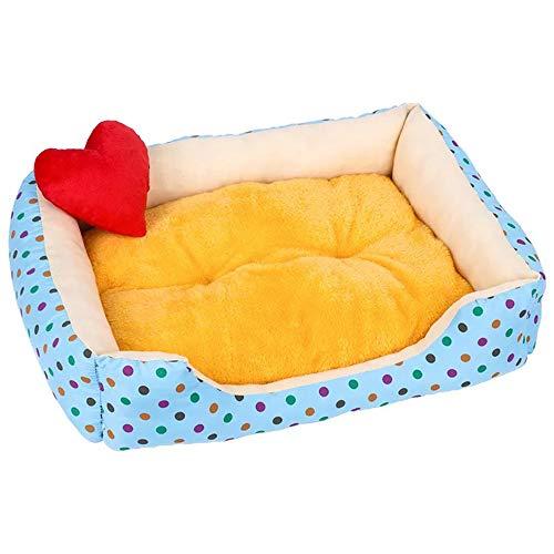 Cesta para Mascotas de Felpa cojín Decorativo en 8 Colores Diferentes y 4 tamaños - Lavable y Resistente a los arañazos casa para los Perros y Gatos (Style 4, S)