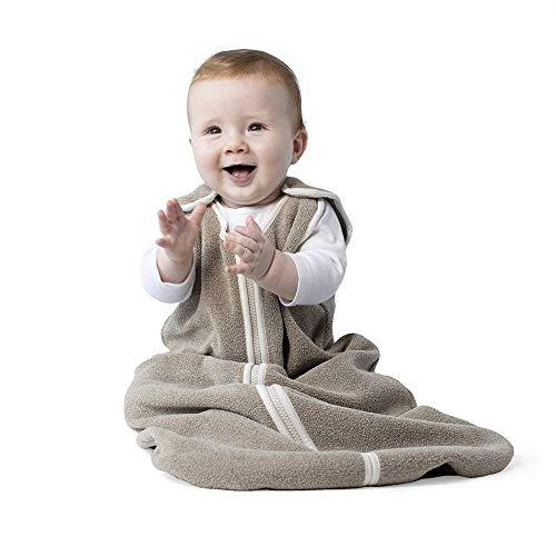 YPSMLYY Herbst Und Winter Baby Anti-Kick Weiche Wollschlafsack Babydecke Kinderwagen Umwickelter Schlafsack Unisex,Khaki-90cm