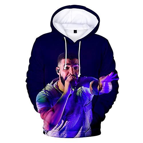 Drake Pullover Pullover Strickjacken-Obermann und Frauen Trend Wild Style beiläufige Art und Weise Sport Autmn-und Winter Unisex (Color : A02, Size : Height-185cm(Tag XXL))