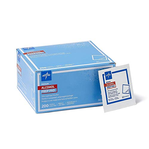 Price comparison product image Medline Sterile Medium Prep Pads 70% Isopropyl Alcohol Antiseptic 200 Count (Limited Edition)