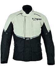 JET Chaqueta de moto para hombre, impermeable, con blindaje CE (Fluro