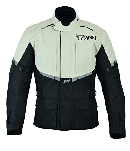 JET Chaqueta Moto Hombre Textil Impermeable con Armadura Tourer (5XL (EU 60 - 62), Plata)