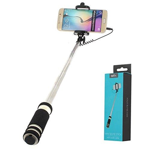Générique–Selfie Stick Ultra Compatto per Samsung Galaxy J72017–Galaxy J3–Note 8–J5–Xcover 4–S8Plus–S8–A3–A5–A7–J32016–J1–Gala e
