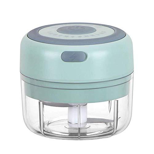 Iwinna 100ml Electric Mini Garlic Chopper Slicer Garlic Blender, Portable Food Chopper, Palm Sized Blender for Fruits Garlic/Vegetables/Onions/Pepper/Ginger(Green)