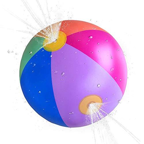 Fesjoy Beach Ball Sprinkler Splash and Spray Beach Ball Opblaasbare Sprinkler Water Spray Ball Opblaasbare Sprinkler Speelgoed voor kinderen Peuters
