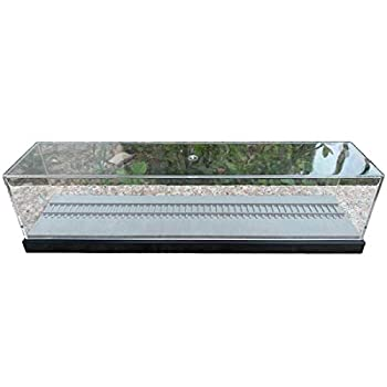 Yamix HO Scale Train Display Case Showcase Dustproof Display Box for 1/18 Scale Model Train