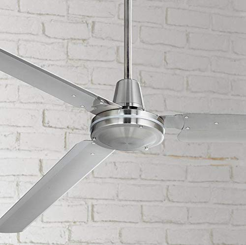 "top rated 72 ""Casa Velocity Outdoor modern industrial ceiling fan, brushed nickel, wall humidity control … 2020"