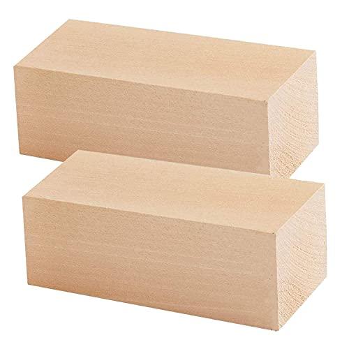 TSKDKIT Bloques de madera extra grandes para tallar madera de tilo, bloques de madera sin terminar, juego de madera blanda...