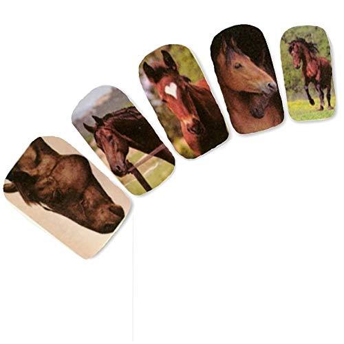 JUSTFOX - Tattoo Nail Paard Horse Nagel Sticker