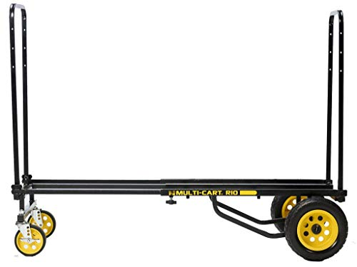 """Rock-N-Roller R10RT (Max) 8-in-1 Folding Multi-Cart/Hand Truck/Dolly/Platform Cart/34"""" to 52"""" Telescoping Frame/500 lbs. Load Capacity, Black"""