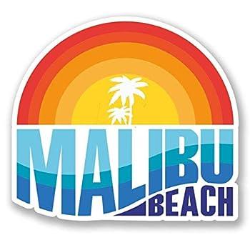 Malibu Vinyl Sticker Decal Laptop Car Bumper Sticker Travel Luggage Car iPad Sign Fun 5