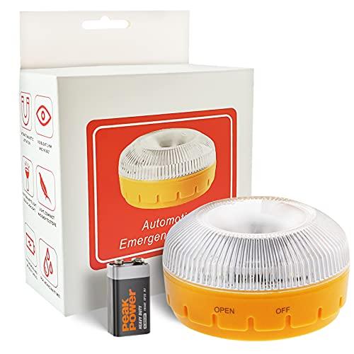 BNEHHOV Luz de Emergencia V16 Homologada Luz de Avería Baliza de Emergencia Coche de Acuerdo con los Requisitos de la DGT LED de Alta Intensidad Luces de Emergencia Apta para días lluviosos y nevados