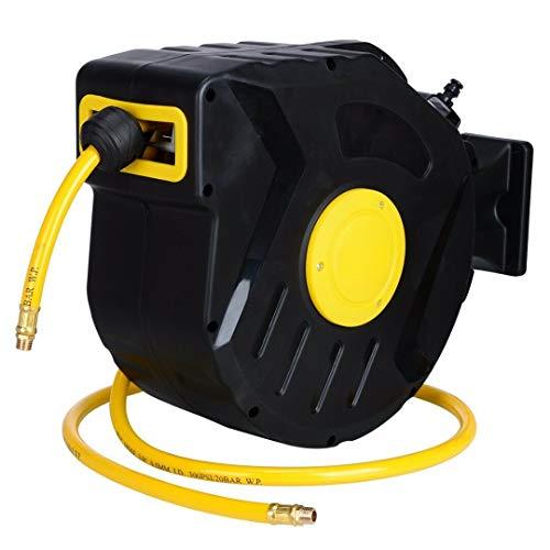 AVGDeals 3/8' X 50' Retractable Air Compressor Hose Reel Auto Rewind Garage Tool 300PSI | Indispensable tool amongst auto repair industry
