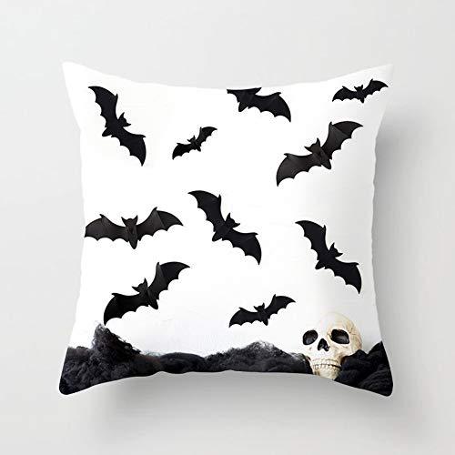 Desconocido Super1798 - Funda de cojín con diseño de Calabaza de Halloween y murciélago Fantasma