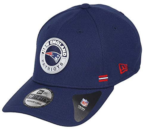 New Era New England Patriots 39thirty Stretch Cap NFL 2020 Sideline Road Alternative Navy - S-M