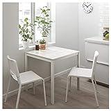 DiscountSeller Mesa MELLTORP, mármol blanco, 75 x 75 cm, duradera y fácil de cuidar, hasta 4 asientos, mesas de comedor, escritorios, muebles, respetuoso con el medio ambiente.