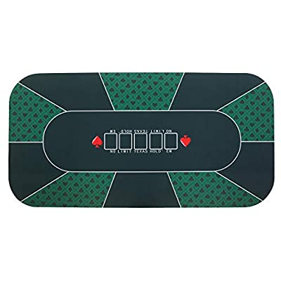 PEXMOR 71'' x 36'' Professional Poker Mat, 8 Player Portable Rubber Poker Table Top Layout w/Carrying Bag to Play Cards, Poker Games, Blackjack, Casino