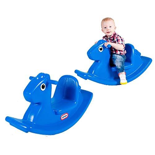 Little Tikes Caballo Mecedor - Juego Activo para Niños Pequeños - Asas de Fácil Agarre y Silla Estable para Mayor Seguridad - Fabricación Duradera - Azul