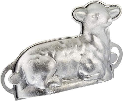 O'Creme 30,5 cm Lamm, 2-teilige Form, Aluminiumguss, 3D-Form