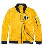 Boys Bomber Jacket Fall Varsity Flight Jacket Saviator Coat Lightweight Waterproof Yellow Size 6