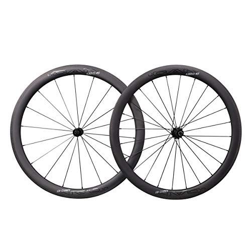 QIQI Bikes AERO 45 Carbon Laufräder 45mm Tief Clincher Tubeless Bereit TLR Superleicht 1359g