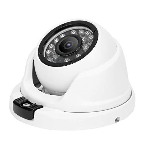 Tomanbery Cámara analógica coaxial de visión Nocturna antivibración óptica de Domo AHD para Seguridad en el hogar(European regulations)