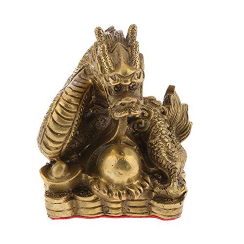 Homyl Vintage Chinesische Tierkreiszeichen Sternzeichen Figur Tierfiguren Dekofiguren Glücksbringer - Drachen