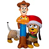 Gemmy 6 ft. Wide Light Up Inflatable - Woody and Slinky