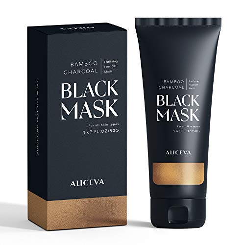 Aliceva Blackhead Remover Mask, Black Mask, Charcoal Peel Off Mask, Activated Charcoal Face...