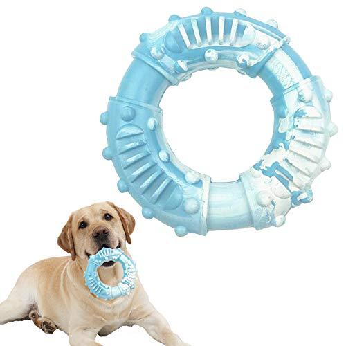 Juguete para masticar para perros, ultra duradero, cepillo de dientes para perros, juguete de caucho natural, anillo de entrenamiento para perros grandes y medianos