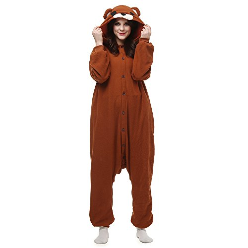 Fandecie Adulte Costume Animal Pyjamas Combinaison Femme Homme Cosplay pour Carnaval Animal Carnaval...