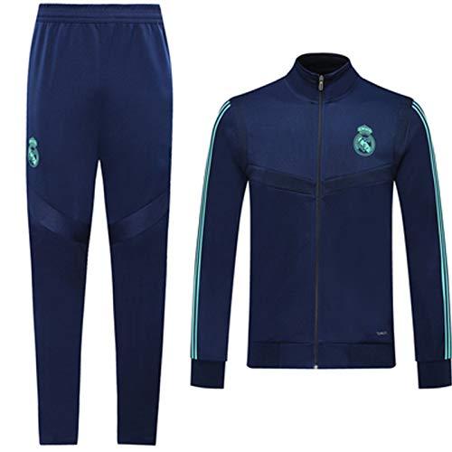 Reǎl Mǎdrid 2021 - Juego de pantalones deportivos para actividades al aire libre, 2 piezas, manga larga, uso diario