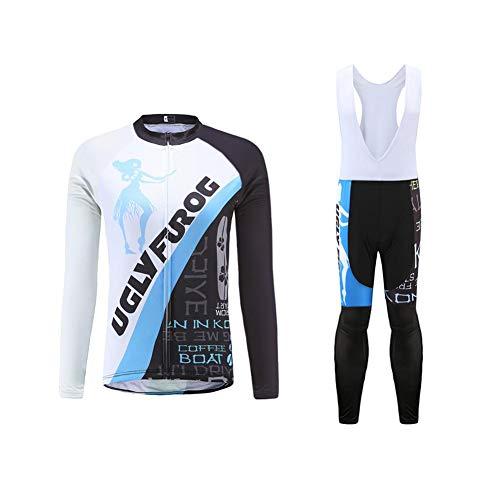 Uglyfrog Veste Cycliste Homme Noir et Maillot Cyclisme Manches Longues Ultra-léger et Respirant Cycling Jersey Cuissard Thermique Femme Velo PZ02