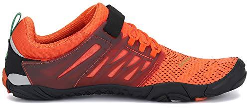 SAGUARO Barfußschuhe Herren Zehenschuhe Outdoor Traillaufschuhe Männer Straßenlaufschue Five Finger Schuhe St.2 Orange 44 - 5
