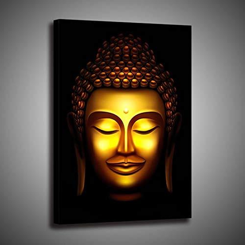 God Buddha mural art print Buddha oil painting Buddhist mural living room religious Poster Wall Art Decoration (No Frame,30x45cm)