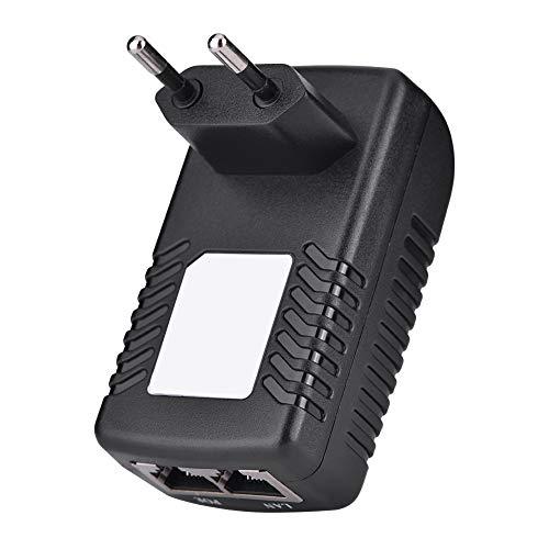 Adaptador Ethernet POE, Inyector POE Para Teléfono IP Inyector POE Portátil Para Dispositivos POE O No POE(Normativas europeas)
