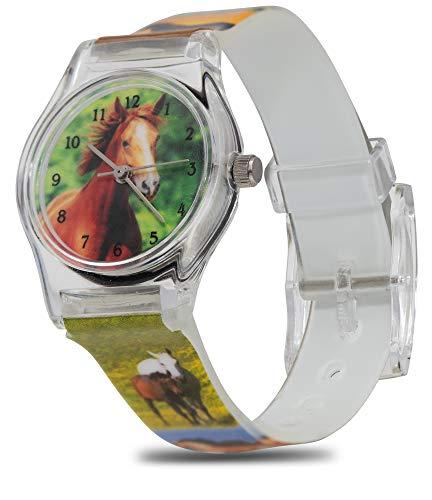 Pacific Time Mädchen Uhr Analog Quarz mit Kunststoffarmband 20334